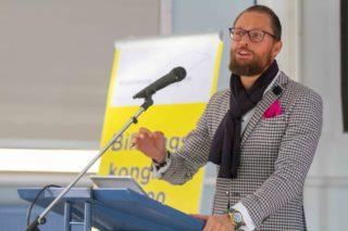 Dr. Robin Melloy stellt in seinem Vortrag spannende Thesen auf. Foto: SMMP/Ulrich Bock