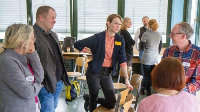 Engagierte Diskussionen gab es am Freitag in den Workshops des Bildungskongresses am Engelsburg-Gymnasium. Foto: SMMP/Ulrich Bock